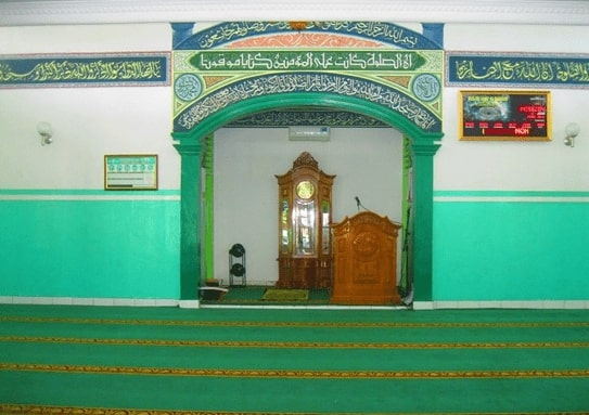 Interior Masjid Jami Al Barkah Karawang